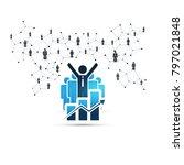 networks   worldwide financial... | Shutterstock .eps vector #797021848