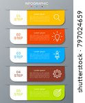 infographic modern with five... | Shutterstock .eps vector #797024659