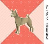 year of dog vector illustration ... | Shutterstock .eps vector #797024749