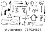 hand drawn doodle vector arrows. | Shutterstock .eps vector #797024839