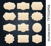 vintage blank empty frame set... | Shutterstock .eps vector #797026906