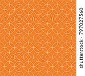 orange geometric print.... | Shutterstock .eps vector #797027560
