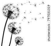 silhouette of a dandelion | Shutterstock .eps vector #797031319