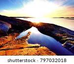 mysteries of dawn. sea sunrise... | Shutterstock . vector #797032018