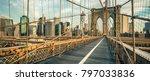 famous brooklyn bridge in the... | Shutterstock . vector #797033836