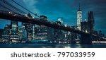 view of brooklyn bridge by... | Shutterstock . vector #797033959