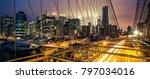 view of brooklyn bridge at... | Shutterstock . vector #797034016