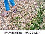 walking legs of a girl in... | Shutterstock . vector #797034274