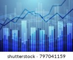 abstract financial chart with... | Shutterstock .eps vector #797041159