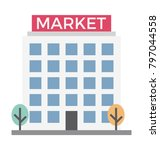 shopping mall colored...   Shutterstock .eps vector #797044558