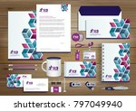 vector abstract stationery... | Shutterstock .eps vector #797049940