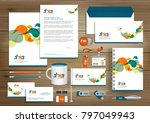 vector abstract stationery... | Shutterstock .eps vector #797049943