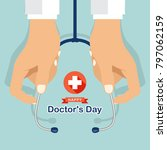 Happy Doctor\'s Day With Hand\'s...
