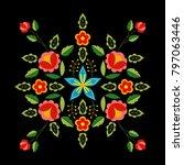 polish folk pattern vector....   Shutterstock .eps vector #797063446