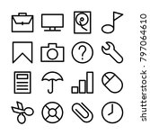 line icon set related of...