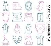 baby clothes set. i | Shutterstock . vector #797066500