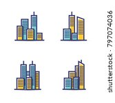 building vector icon set... | Shutterstock .eps vector #797074036