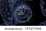 abstract crypto cyber security... | Shutterstock . vector #797077930