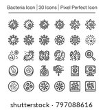 bacteria line icon set | Shutterstock .eps vector #797088616