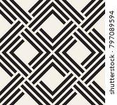 vector seamless lattice pattern.... | Shutterstock .eps vector #797089594