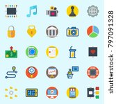 icons set about digital... | Shutterstock .eps vector #797091328