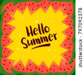 vector illustration of summer... | Shutterstock .eps vector #797092378