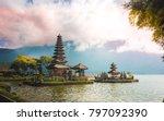 pura ulun danu bratan temple in ...   Shutterstock . vector #797092390