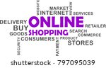 a word cloud of online shopping ...   Shutterstock .eps vector #797095039