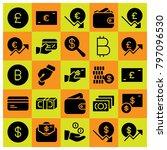 money icon set vector. coins ...   Shutterstock .eps vector #797096530