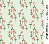seamless pattern with pink... | Shutterstock .eps vector #797098156