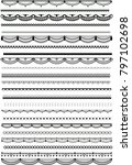 big set of vector lacy brushes  | Shutterstock .eps vector #797102698