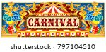 carnival banner circus template.... | Shutterstock . vector #797104510