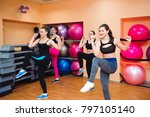 fitness  training  aerobics and ... | Shutterstock . vector #797105140
