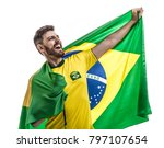 brazilian athlete   fan... | Shutterstock . vector #797107654