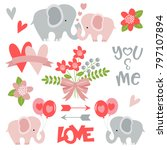 romantic elephants perfect for... | Shutterstock .eps vector #797107894