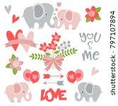 romantic elephants perfect for...   Shutterstock .eps vector #797107894
