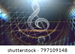 music concept abstract... | Shutterstock . vector #797109148