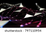 abstract mesh and net... | Shutterstock . vector #797110954
