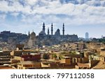 cairo cityscape. old city and... | Shutterstock . vector #797112058