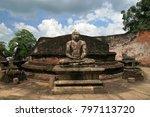 Sitting Buddha Statue In...