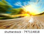 road and speed concept.highway  ... | Shutterstock . vector #797114818