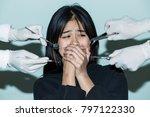 her nightmare  closeup a... | Shutterstock . vector #797122330
