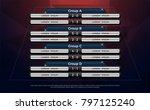 football scoreboard and global...   Shutterstock .eps vector #797125240