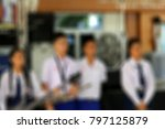 blur student show music in... | Shutterstock . vector #797125879