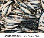 saba fish  mackerel fish  fresh ... | Shutterstock . vector #797128768