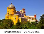 the famous pena palace in...   Shutterstock . vector #797129458
