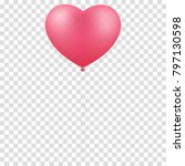 pink balloon heart isolated on... | Shutterstock .eps vector #797130598