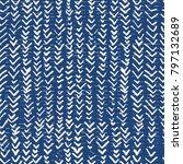Indigo Vector Tie Dye Seamless...