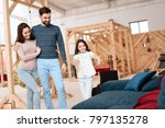 a young family with a little... | Shutterstock . vector #797135278