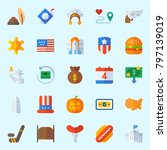 icons set about united states.... | Shutterstock .eps vector #797139019